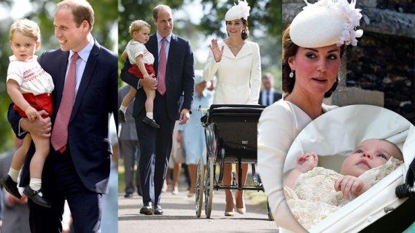 Royal family at Charlotte's Christening