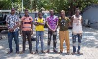 The suspects in custody