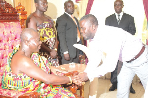 File photo: Otumfuo meets Kuffour