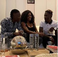Nana Aba Anamoah with Stonebwoy and Shatta Wale