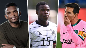 Wonderkid Moukoko, Lionel Messi and Samuel Eto'o