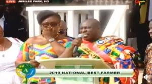 Charles Gyamfi [R] is 2019 National Best Farmer