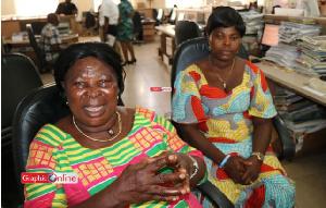 Madam Akua Donkor (L) and Mrs. Patricia Asante