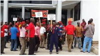 ECG workers protest against privatisation