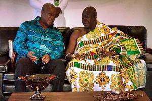 Former President John Dramani Mahama and Otumfuo Osei Tutu II