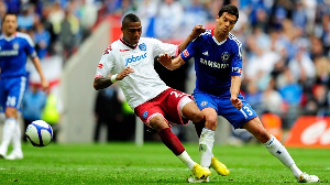 Kevin Prince Boateng and former German national team captain Michael Ballack