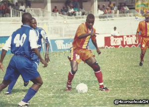 Ishmael Addo in action for Hearts of oak
