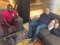 Grant is in Spain as part of his monitoring of Ghanaian players abroad