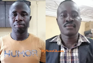 Bismark Asabre and Bright David Mensah are in the custody of the police