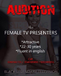 Bossu Kule said they are looking for brilliant female presenters between the ages of 22-30years