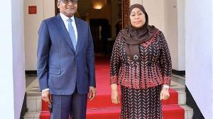 Tanzanian President Samia and Nigerian businessman Aliko Dangote