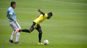 Samuel Obeng in action for his side