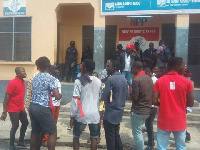 Some disgruntled supporters besieged the premise of the New Juaben office on Thursday