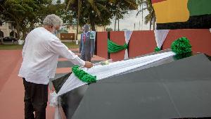 Former President Rawlings at Atta Mills' Asomdwee Park