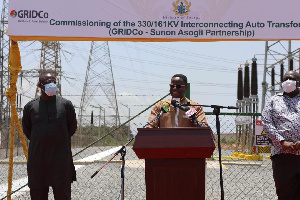Energy Minister, John Peter Amewu during the commissioning