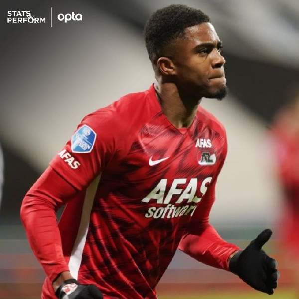 AZ Alkmaar striker Myron Boadu unhappy with his form