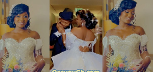 Kalybos and Ahuofe Patricia have shared their wedding video on social media