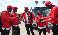 Players of Kumasi Asante Kotoko