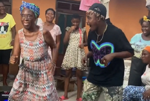 Dancegodllyod dancing with a visually impaired woman