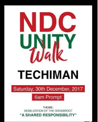 The 'Walk' is slated for December 30th 2017