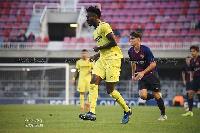 Emmanuel Lomotey in action for his side