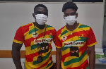 Abeiku Jackson (right) with his local trainer Dan Opare