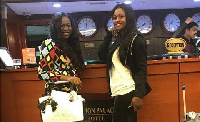 Zeinab (R) and Baaba (L) checked in at the Delmon Palace Hotel, Dubai
