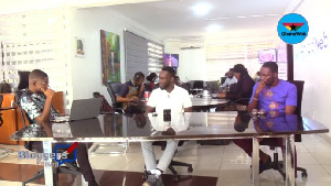 [L-R]: Host Abrantepa with Nana Yaw Wiredu and Arnold Asamoah-Baidoo