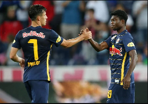 Forson Amankwah played for Red Bull Salzburg against Atletico Madrid