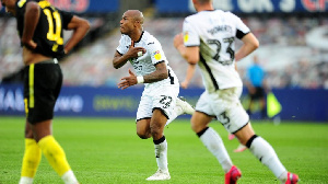 Ayew netted his 18th goal of the season over the weekend