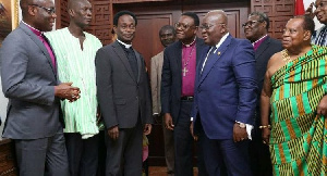 President Akufo-Addo with members of the Peace Council [File photo]