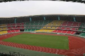 An overview of Statde Stade de Kintele in Brazzaville.
