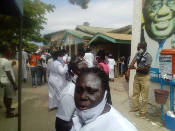 Ecstatic supporters after Kwabena Okyere Darko-Mensah won the polls