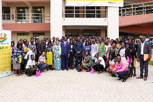 Deputy Minister of Education, Dr. Yaw Osei  Adutwum  in a group photo with the participants