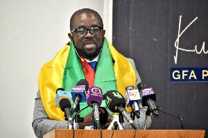 Mr. Kurt E. S Okraku presidential aspirant of the Ghana Football Association