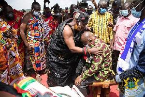 Nana Addo Dankwa Akufo-Addo was enstooled development chief on Friday, 21st August 2020
