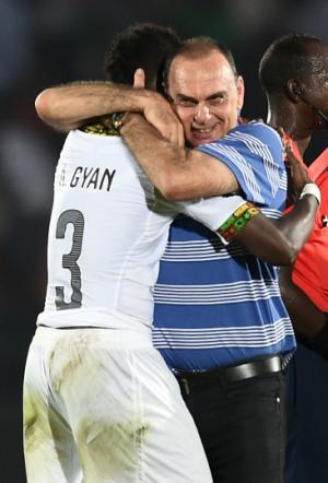 Asamoah Gyan Grant Hug