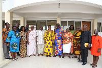 Osabarima Kwesi Atta with Nana Ama Dokua Asiamah delegation from the Information Ministry