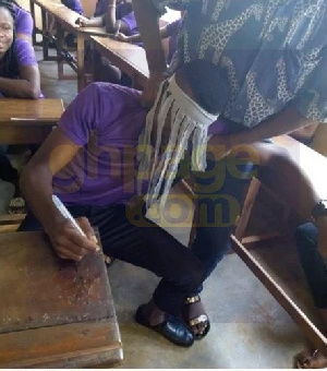 The young man was sent out of the exam hall by an invigilator before the commencement of the exam
