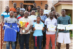 The Akosombo Hydro Spikes  in a group photo with Paul Ansah