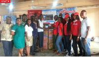 Rotary club donates sanitary pads to students.