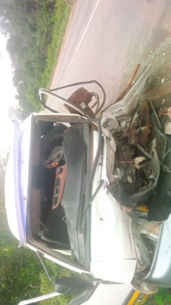 The accident occurred between two cars, a Hyundai van (Trotro) and a Toyota Corolla