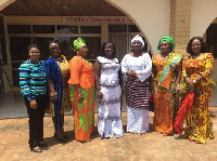 Hajia Zainabu (3rd from right) in a pose with her two deputies and some female govt appointees
