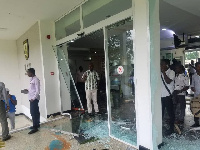 The protesting students destroyed properties worth millions of Ghana cedis