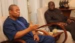 President of Imani Africa, Mr Franklin Cudjoe and President Akufo-Addo