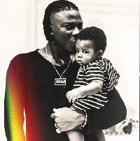 Dancehall artiste, Stonebwoy with son