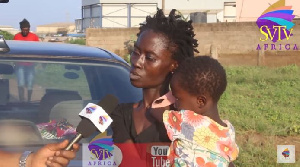 The woman during an interview with SVTV Africa