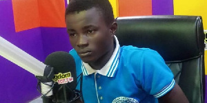 Thomas Amoaning, a student of Adeiso Presby SHS