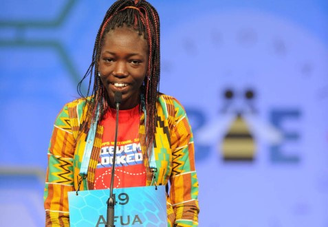 Afua  advances to Spelling Bee finals