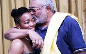 Former President, Jerry John Rawlings (r) and daugther, Zanetor